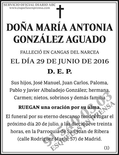 María Antonia González Aguado